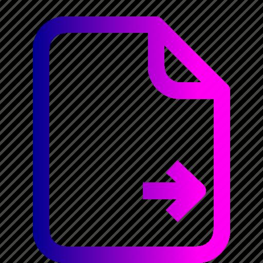 document, file, important, memo, move, paper icon