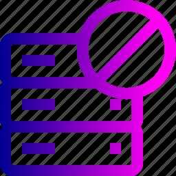 block, data, database, rack, server, storage icon