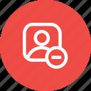 avatar, cancel, male, profie, remove, user