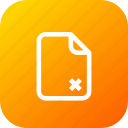 cancel, cross, delete, document, file, important, memo, paper icon