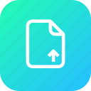 document, file, important, memo, paper, upload icon