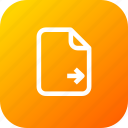 document, file, important, memo, move, paper icon