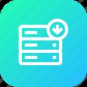 data, database, download, rack, server, storage