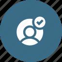 accept, avatar, male, profie, user, verify icon