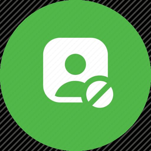 avatar, block, denied, male, profie, user icon