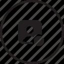 avatar, denied, profie, male, block, user icon
