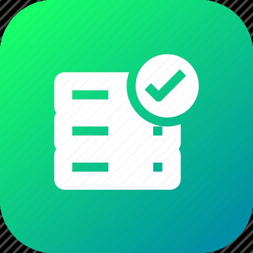 2, accept, data, database, rack, server, storage, verify icon