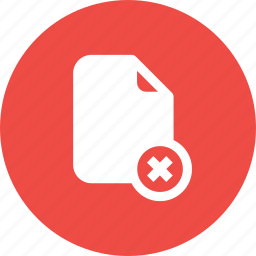 cancel, cross, delete, document, file, important, memo, paper icon
