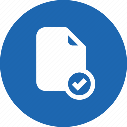 accept, document, file, important, memo, paper, verify icon