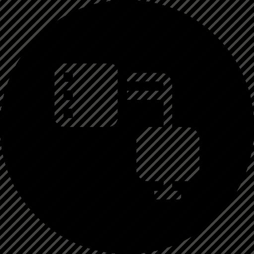 computer, connection, data, database, share, slve, storage icon