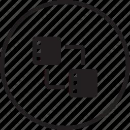 connection, data, database, file, rack, server, sharing, storage, transfer icon