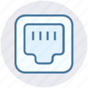 cable, connection, ethernet, internet, network, port, telephone icon
