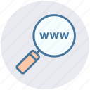 domain searching, internet, magnifier, online, search, web, www