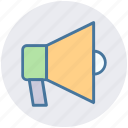 advertising, announcement, bullhorn, communication, loudspeaker, marketing, megaphone icon