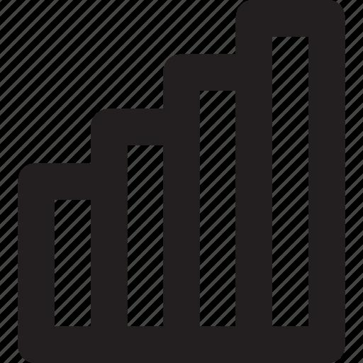 bars, coverage, graph, network, signals icon