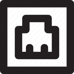 connector, ethernet, internet, lan port, plug icon