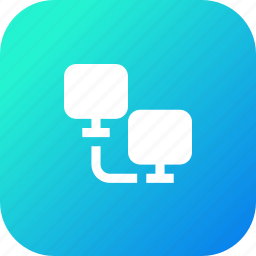computer, connection, data, file, oneway, share, sharing, transfer icon