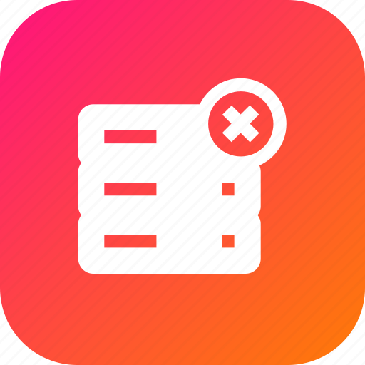 Cross, data, database, delete, rack, remove, server icon - Download on Iconfinder