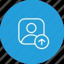 profie, male, upload, user, avatar icon