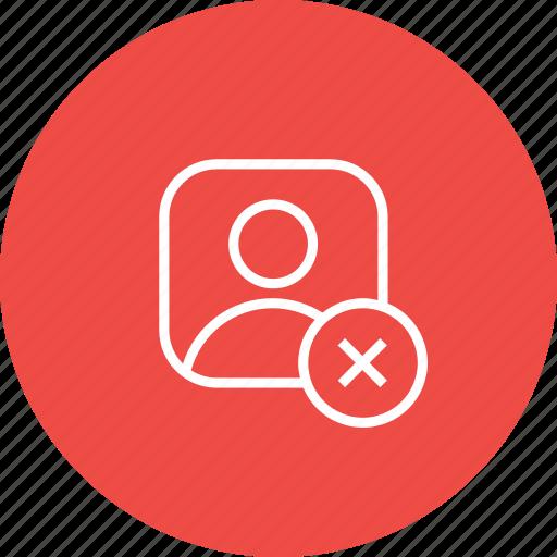 avatar, cancel, close, male, profie, reject, user icon