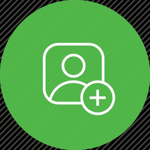 add, avatar, insert, male, person, plus, profie, user icon