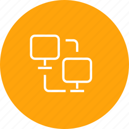 computer, connection, data, file, share, sharing, transfer icon
