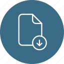 document, download, file, important, memo, paper icon