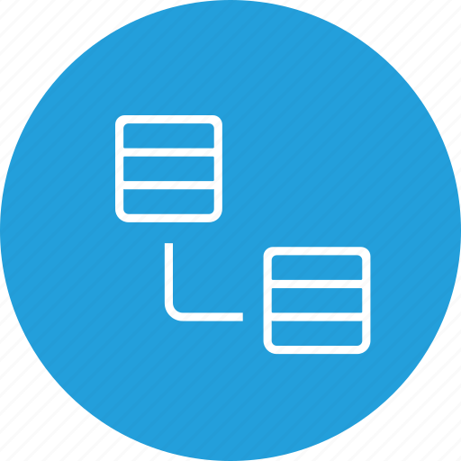 connection, data, database, oneway, rack, server, single, storage icon