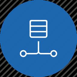 connection, data, database, lan, network, server, storage icon