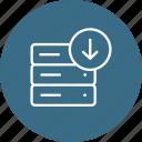 block, data, database, rack, server, storage