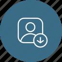 download, profie, male, avatar, user icon