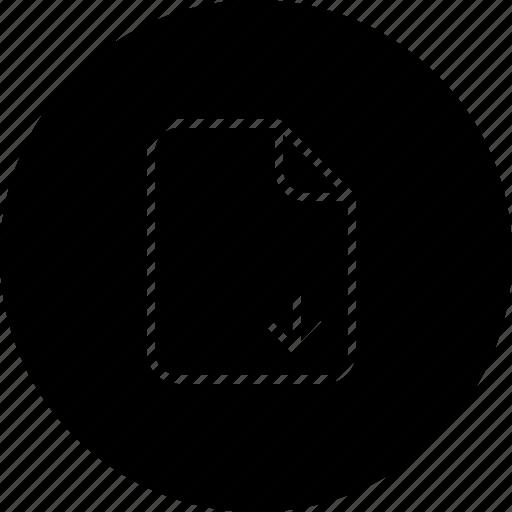 document, download, file, important, memo, paper icon
