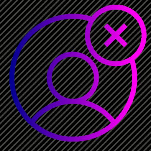 add, avatar, cancel, close, cross, male, profie, user icon