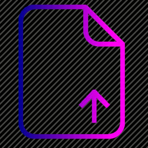 document, file, important, memo, paper, upload icon