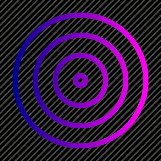 achieve, aim, board, dart, goal, illusion, target icon