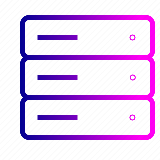 collection, data, database, rack, server, space, storage icon