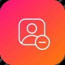 remove, avatar, cancel, profie, male, user icon