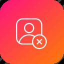 reject, avatar, close, cancel, profie, male, user icon