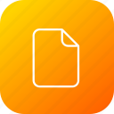 document, file, important, memo, paper icon