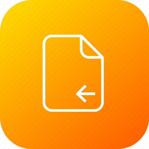 document, file, important, left, memo, move, paper icon