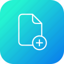 add, document, file, important, insert, memo, new, paper icon