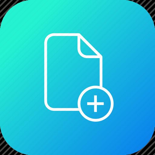 add, document, file, important, insert, memo, new, paper icon