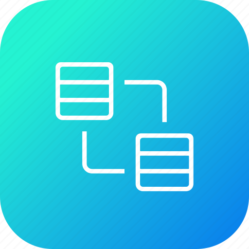 connection, data, database, file, rack, server, sharing, storage, transfer icon