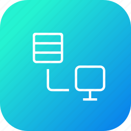 computer, connection, data, database, share, storage icon