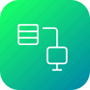 computer, connection, data, database, share, storage