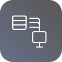 database, share, storage, connection, computer, data icon
