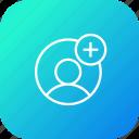 add, avatar, insert, male, profie, user