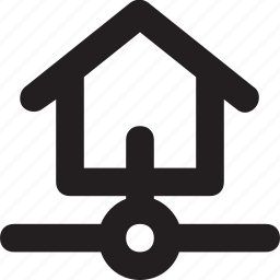 home, home area network, lan, networking, remote network icon