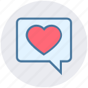 chat, communication, heart, like, love, message