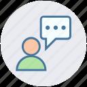 chat, message, online, speech, talk, user